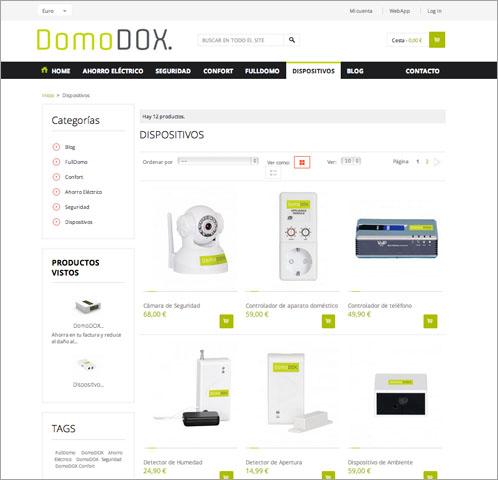Captura web Dispositivos DomoDOX