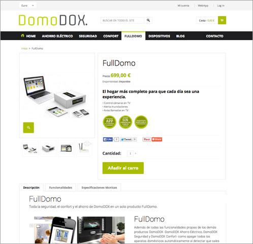 Captura web FullDomo DomoDOX