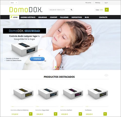 Captura web seguridad DomoDOX