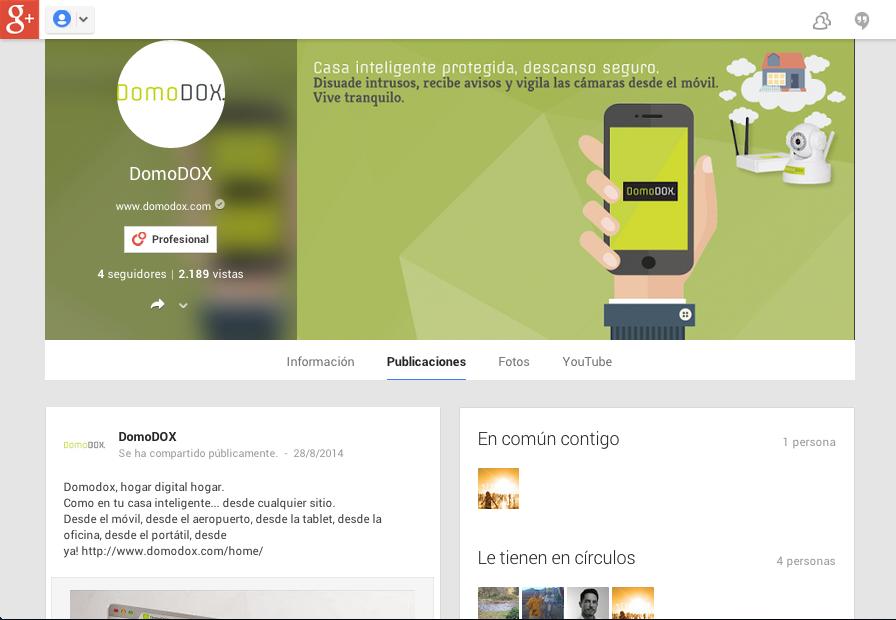 Página en Google+ de DomoDOX