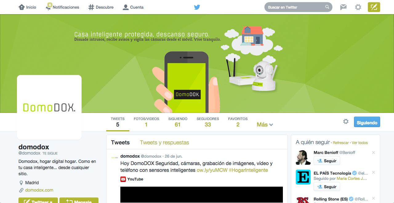 Página en Twitter de DomoDOX