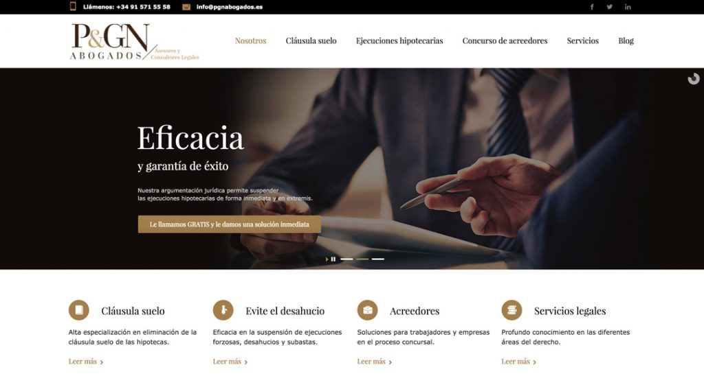 Site de PGN Abogados