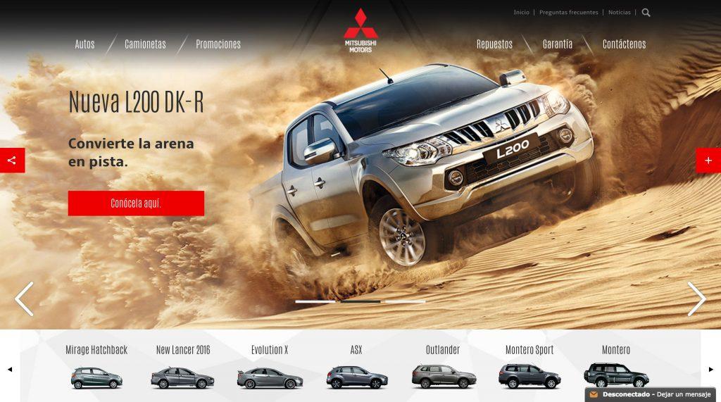 Home page Mitsubishi Motors Perú